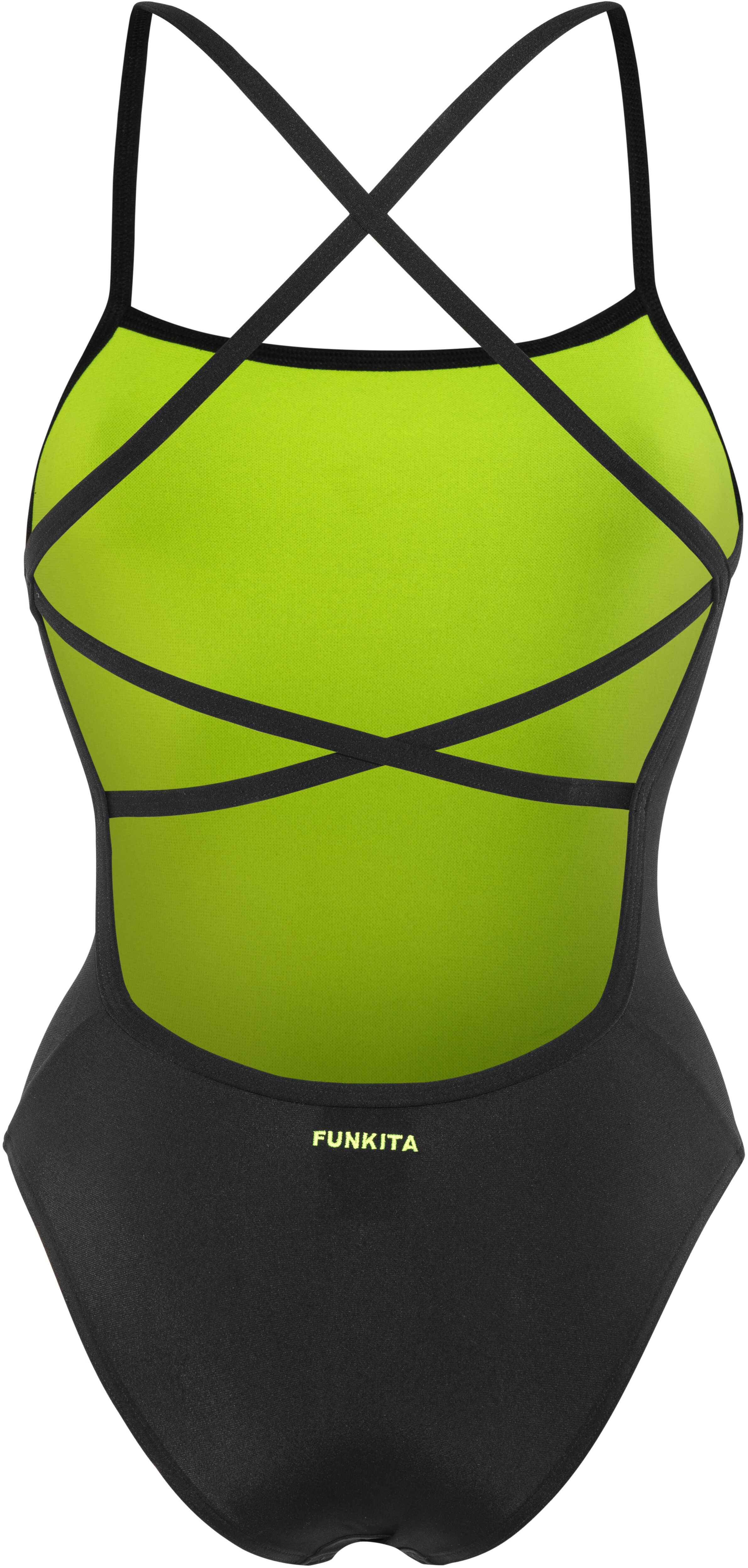 Funkita Strapped In One Piece Swimsuit Women Still Black Solid ... 4629076a12